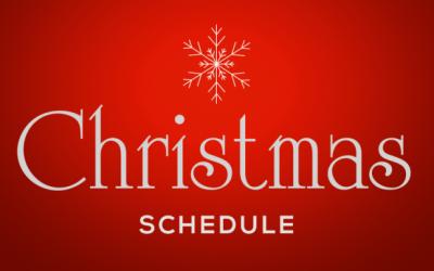 Christmas Schedule