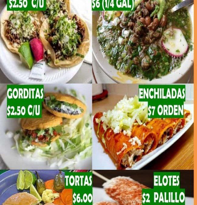 Food sale – August 9th, 2020